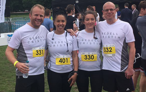 Bedell Cristin team in London 10k charity run